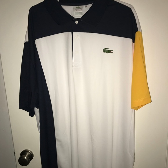 f319c16e9e Lacoste Black/White/Yellow Polo